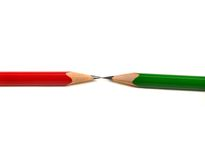 Pencils with opposing tips Stock Images