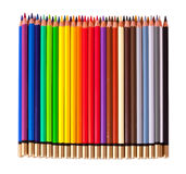 Pencils over white Stock Photography
