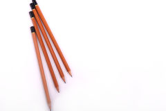 Pencils over white Royalty Free Stock Image