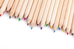Pencils over white Stock Image