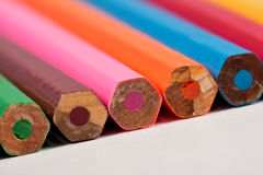 Pencils packed in a row with the backside Stock Images