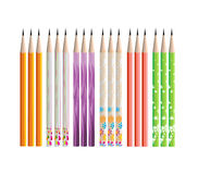 Pencils painted in different colors Royalty Free Stock Image