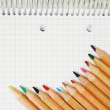 Pencils and paper Royalty Free Stock Photos