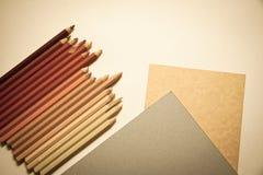 Pencils&paper zdjęcia royalty free