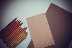 Pencils&paper Royalty Free Stock Images