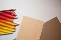 Pencils&paper Stock Photos