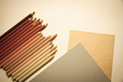 Pencils&paper Royalty Free Stock Photos