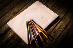 Pencils and paper Stock Photography