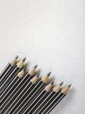 Pencils on paper Stock Photography