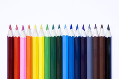 Pencils with path.  on white background. Stock Image