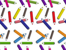Pencils pattern. A coloured pencil pattern seamless Royalty Free Stock Image