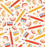 Pencils pattern Stock Photo