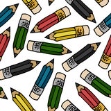 Pencils pattern Stock Photo