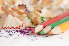 Pencils peels Royalty Free Stock Photography
