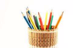 Pencils and pencil-holders close-up Stock Photography