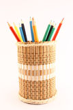 Pencils and pencil-holders Royalty Free Stock Image