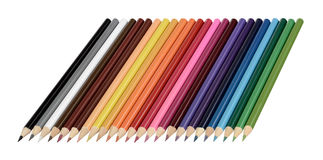 Pencils. Pens pencils colors drawing set Stock Photo