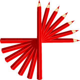Pencils, Pens, Red, Drawing, Sharp Stock Images