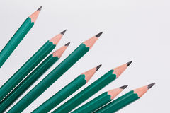 Pencils in perspective Stock Photo