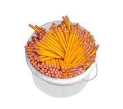 Pencils in a plastic box Royalty Free Stock Photos