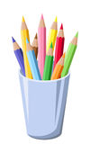 Pencils in a pot. Stock Images