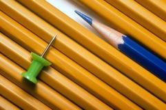 Pencils and Pushpin Royalty Free Stock Image