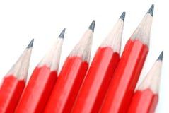 pencils red Royaltyfri Bild