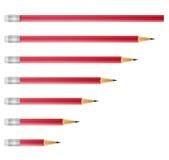 pencils red Fotografering för Bildbyråer