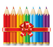 Pencils with Ribbon Royalty Free Stock Photo