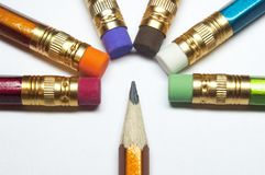 Pencils in row Stock Photography