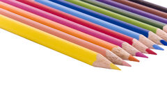 Pencils in a row Stock Image