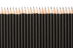 Pencils in a row Royalty Free Stock Photo