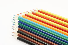 Pencils in a row area Stock Photography