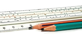 Pencils and ruler Royalty Free Stock Photos