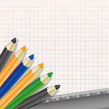 Pencils and ruler. Stock Image