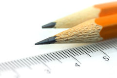 Pencils and scale Stock Photos