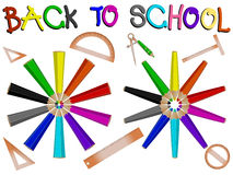 Pencils school banner Stock Photos