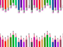 Pencils School Means Colours Spectrum And Learning Stock Photography