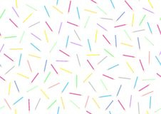Pencils seamless background - cdr format. Background made from coloured pencils royalty free illustration