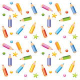 Pencils seamless pattern Royalty Free Stock Photo