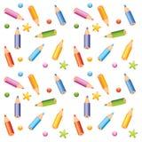pencils seamless pattern royalty free stock photo