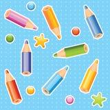 Pencils seamless pattern Stock Photo