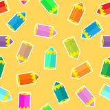 Pencils seamless pattern Stock Photo