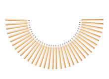 Pencils semicircle. Installation of wood pencils in semicircle shape Stock Photography