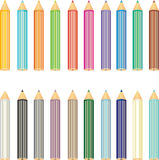 Pencils set. 20 colored pencils. web icon set vector illustration