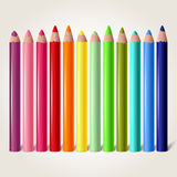 Pencils. Set of colored pencils  on white, vector illustration Stock Photography