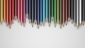 Pencils. Several colored pencils lie on the surface Royalty Free Stock Image