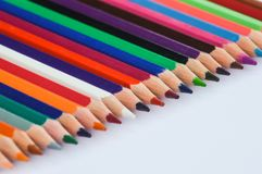 Pencils. In several colours close to each other Royalty Free Stock Images