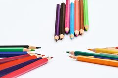 Pencils. In several colours close to each other Royalty Free Stock Image