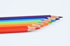 Pencils. In several colours close to each other Royalty Free Stock Photo
